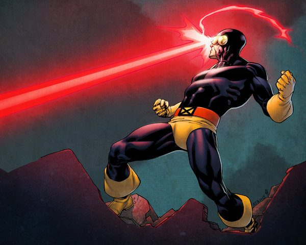 Cyclops Shoots Lasers Out Of His Eyes
