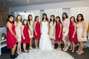 Bride With Junior Bridesmaids