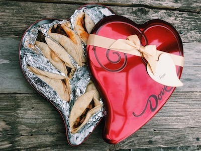 tacos in heart box